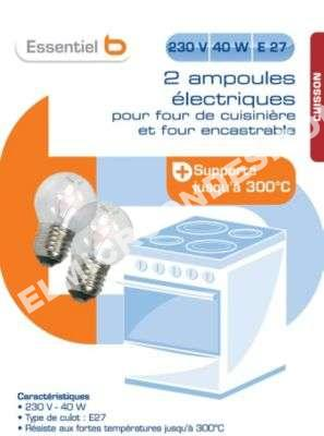 micro ondes essentiel b ampoule four 300 e27 40w 230 au meilleur prix. Black Bedroom Furniture Sets. Home Design Ideas