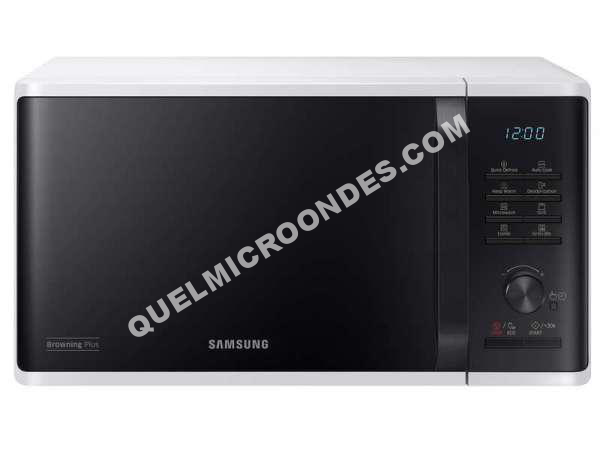 micro ondes samsung micro ondes grill mg23k3515aw au meilleur prix. Black Bedroom Furniture Sets. Home Design Ideas