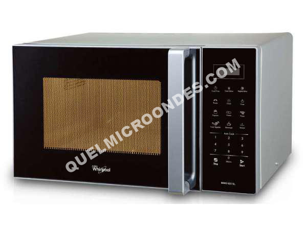 micro ondes whirlpool micro ondes grill mwo616 01 sil au meilleur prix. Black Bedroom Furniture Sets. Home Design Ideas